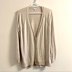 Large Gap tan cardigan sweater